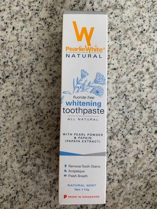 Pearlie White all natural whitening toothpaste