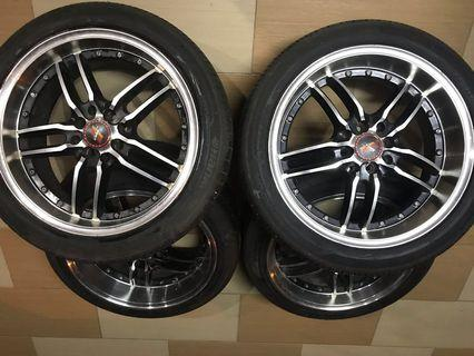 17'inches rim with tyre (4 lubang)