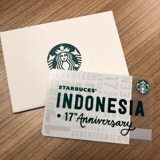 Starbucks Card Special 17th Anniversary Indonesia