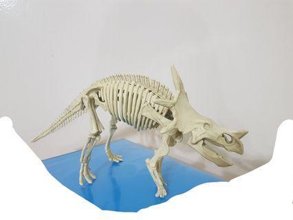 3d dinosaur structure, 11 pieces.