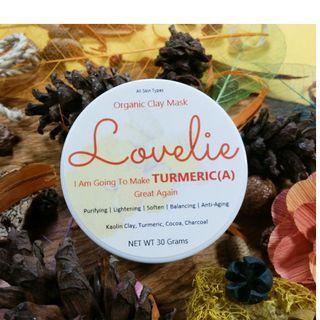 Turmeric Lovelie Natural Clay Mask - Masker Wajah Lovelie Turmeric