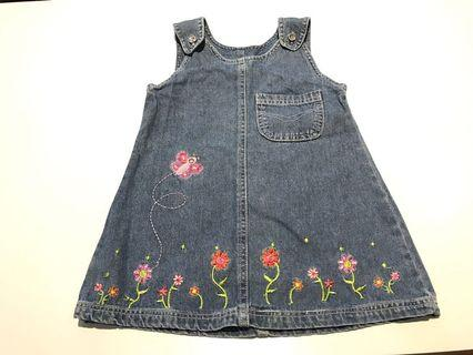 🚚 Baby girl denim overall dress toddler 24m