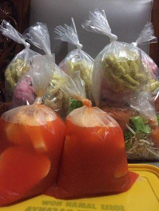 Asinan sayur dan asinan buah