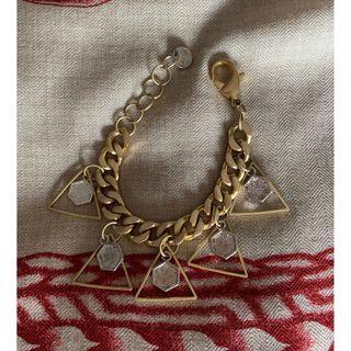 Salut De Miel Bracelet Gold & Rustic Metal (Excellent Condition)