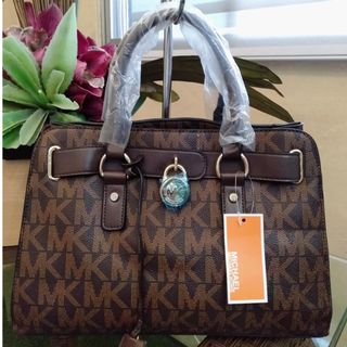 cc2257bd9efd MK Bag Michael Kors Hamilton Bag Satchel Bag Handbag MK Sling Bag Women's  Bag BROWN