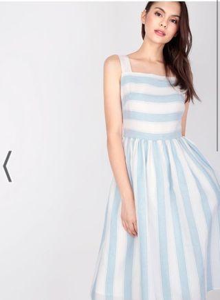 🚚 BNWT AForArcade Maisie Striped Dress - Sky Blue