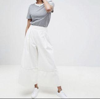 🚚 ASOS DENIM white culottes