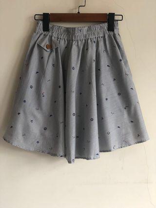🚚 50% fifty% 海軍風 藍白條紋 小圓裙 A字裙