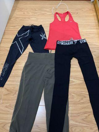 Tight leggings gym active wear xs
