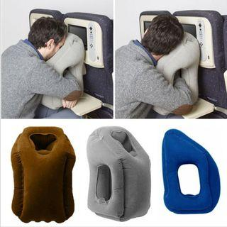 Inflating Travel Pillow, Airplane Pillow, Neck Pillow, Inflatable Cervical Pillow, Light weight and Portable Traveling pillow, Designed for Airplanes, Cars, Trains, Office Napping or Camping