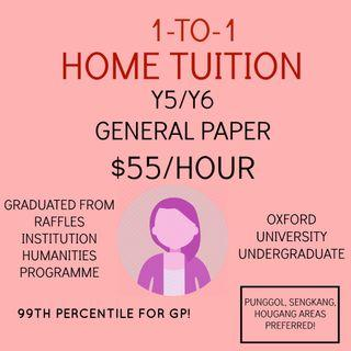 JC General Paper Tuition