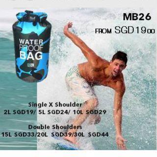 🚚 MB26 OUTDOOR WATERPROOF CAMO POUCH IN 2L/ 5L/ 10L/ 15L/ 20L/ 30L IN PINK/ GREEN/ INDIGO/ BB BLUE/ ORANGE