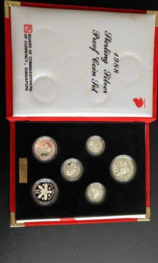 1988 SG Sterling Silver Proof Coin set