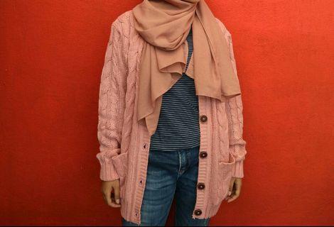 Cardigan Tumblr- Dusty Pink