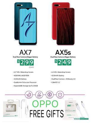 (Brand New) Oppo AX7,AX5s *Oppo Free Gifts*