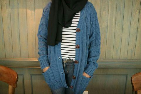 Cardigan Tumblr - Blue Jeans