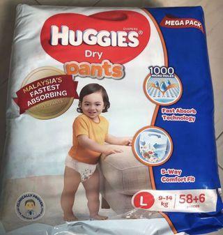 Huggies Dry Pants Mega Pack