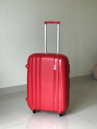 Clearance-Lucky Red Delsey Limited Edition Suitcase Beg for Go Getters