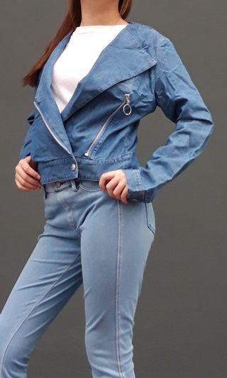 Uniqlo blue demin style jacket