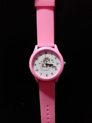 Jam Tangan Unicorn Pink