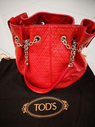 Tods Glossy Bucket Bag