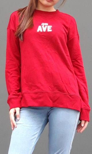 Ave red long sleeve sweater from PDI
