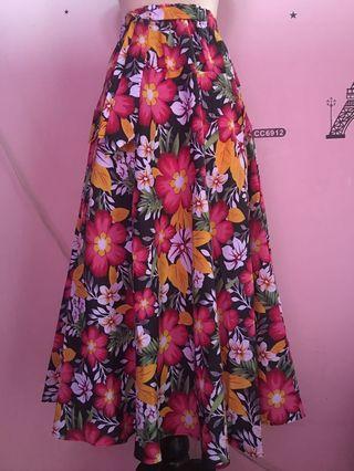 Rok Panjang Flower Model Payung