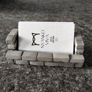迷你水泥磚DIY橫式置物架、名片架材料包組 原色A組