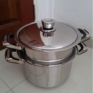 Brand New Solingen 3-Pc Stainless Steel Stock / Steamer Pot Set, Selling $250, original $290