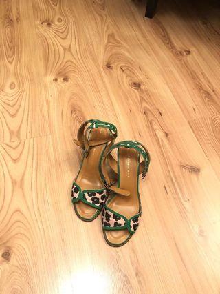 Tsumori chisato walk綠色涼鞋
