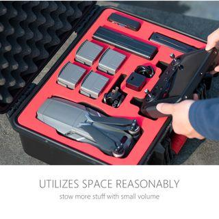 PGYTECH Safety Carrying Case Hard Waterproof Storage Box Carry Bag for DJI MAVIC 2 PRO / ZOOM SMART CONTROLLER