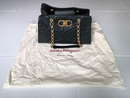 Salvatore Ferragamo Quilted Gancini Shoulder Bag