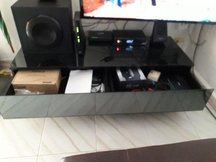Glass TV console for sale