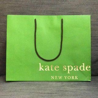 [Discount] Kate Spade Paper Bag Green Authentic Official Gift Bag