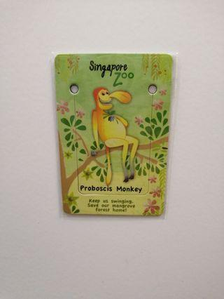 Singapore Zoo bookmark/magnet