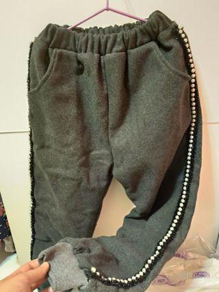 🚚 女童舖棉厚棉長褲  約110~120cm