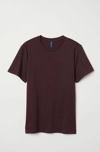 H&M Maroon Top/T-shirt