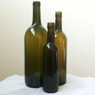 Glass Bottle/Vase Set of 3 (Round)
