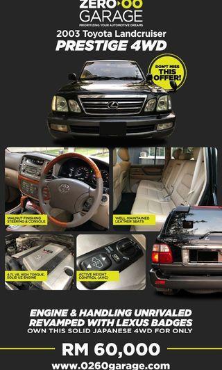 Toyota Landcruiser Prestige 4WD