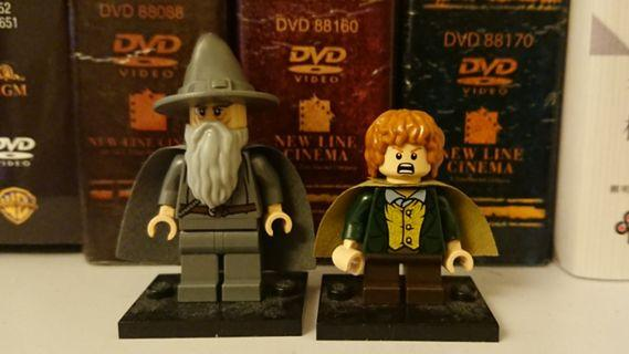 Lego Gandalf Merry minifigures