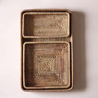 Rectangle Rattan Tray Set (inc Postage)