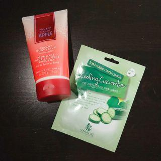 Bath and body works body scrub - winter candy apple + FREE Korean face mask #SwapAU