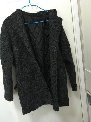 黑色毛毛外套
