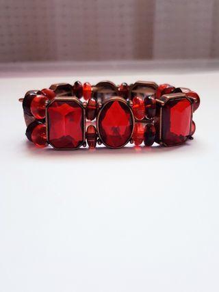 🆕️Vintage styled Blood Red Statement Bracelet