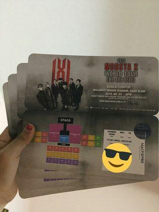[WTS] MONSTA X CONCERT TICKET IN MALAYSIA