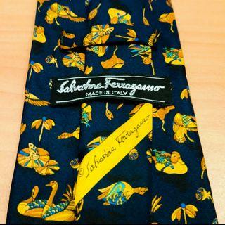Salvatore Ferragamo Neck Tie - 100% Silk - Made in Italy