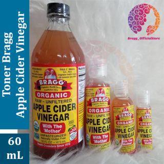 TONER Bragg Apple Cider Vinegar 60 ML - Cuka Apel Bragg - Untuk Kesehatan Kulit Wajah