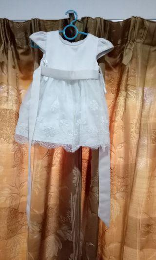 Baby white gown