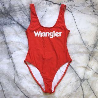 Wrangler red bodysuit size 6