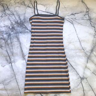Striped bodycon dress size 6